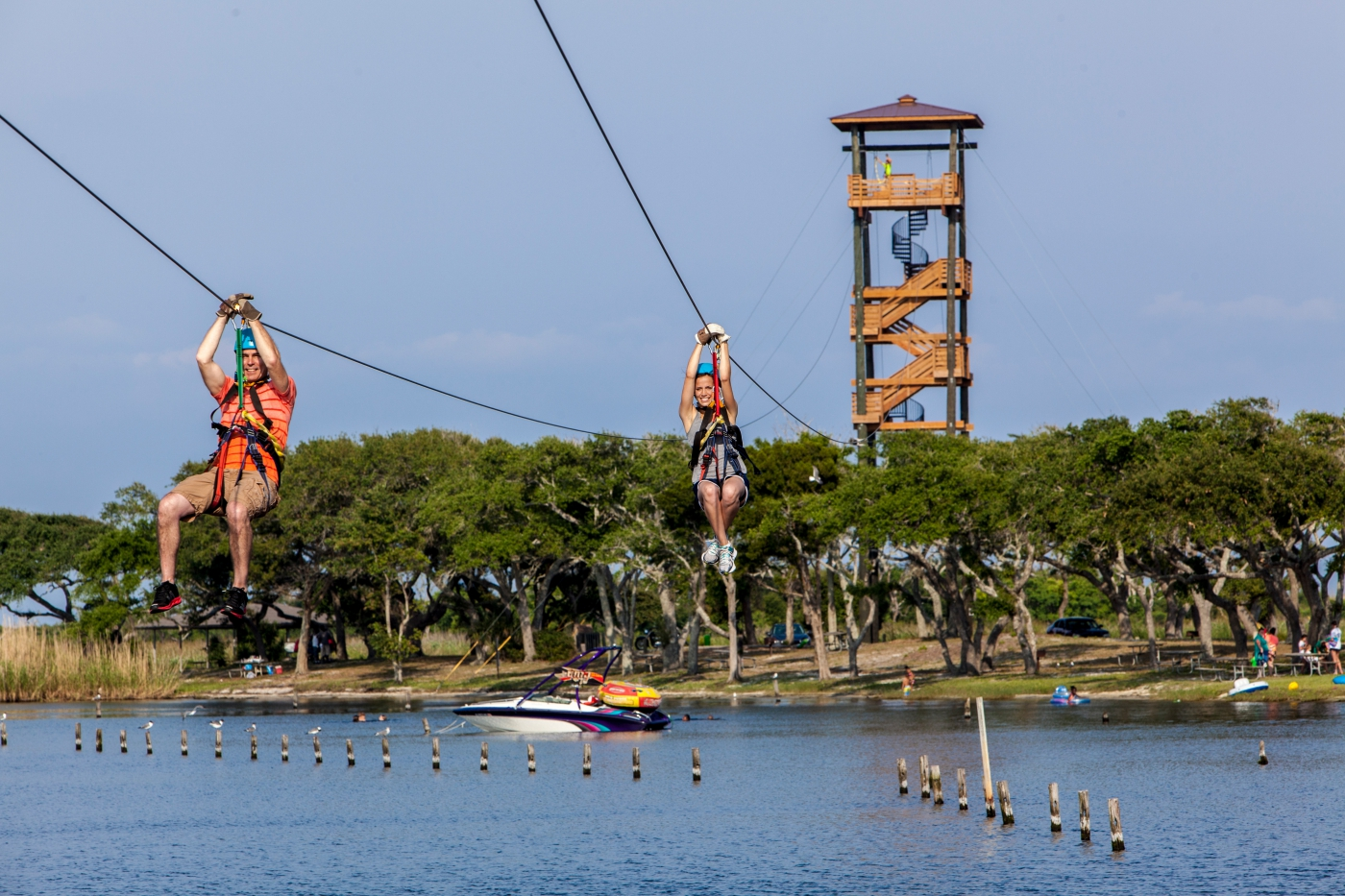 Ziplines and adventure abound at Gulf State Park in Gulf Shores.