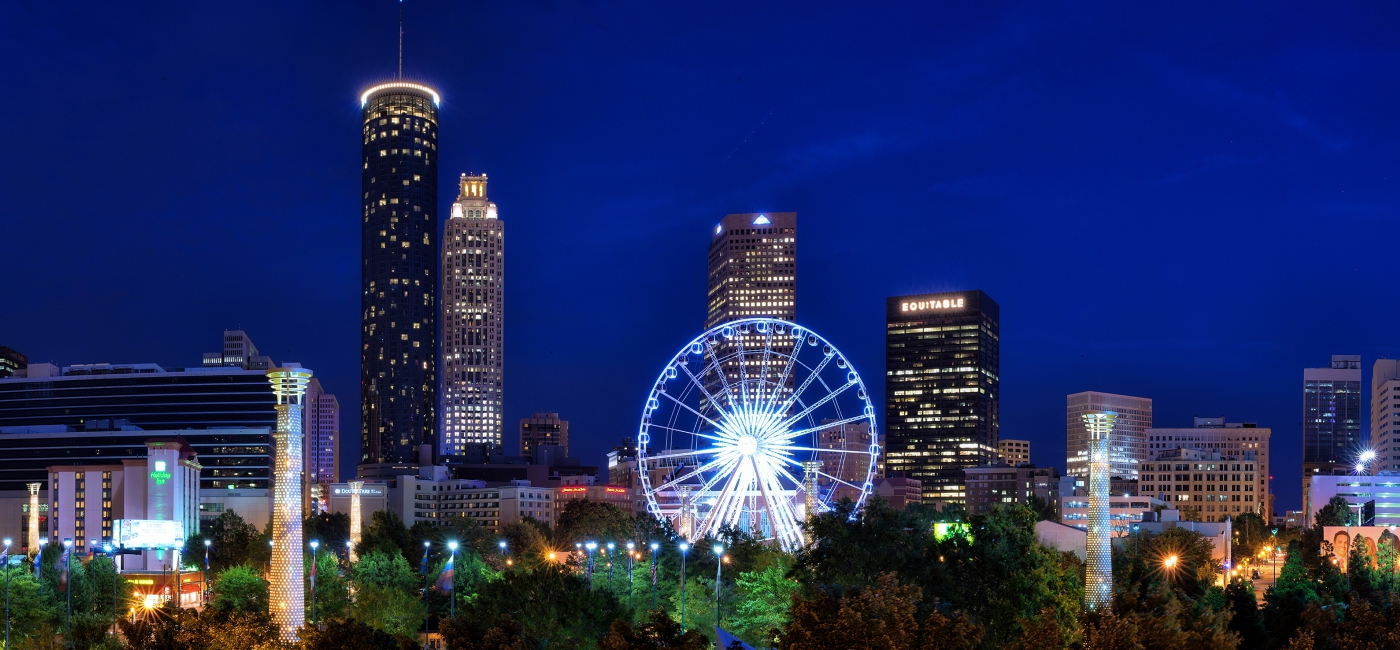 Downtown Atlanta is beautiful at night!