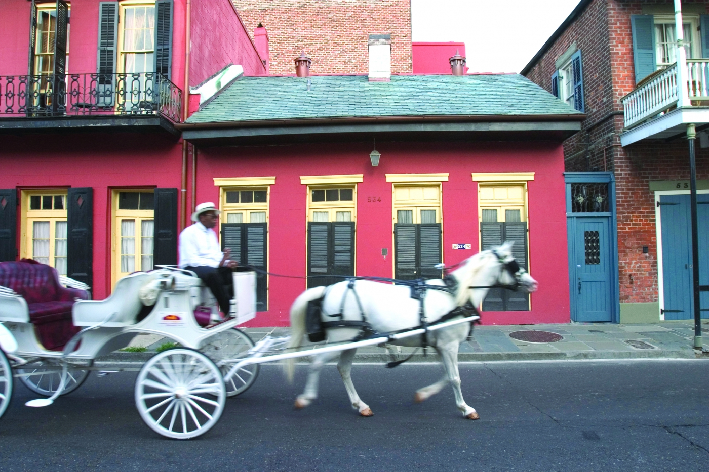Horse and carriage rides are a great way to get around town in Louisiana!