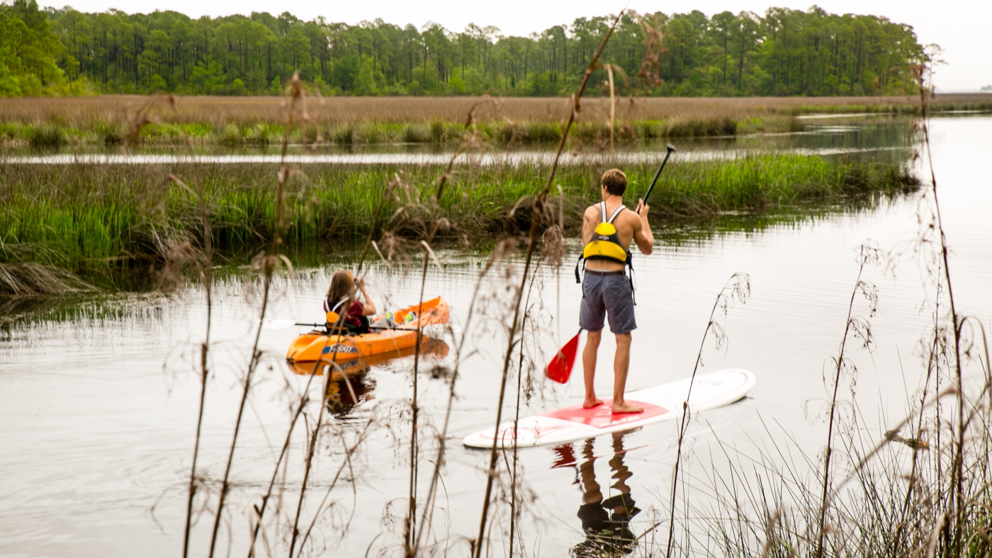 Paddleboarding has become more prevalent in the South. Try it!
