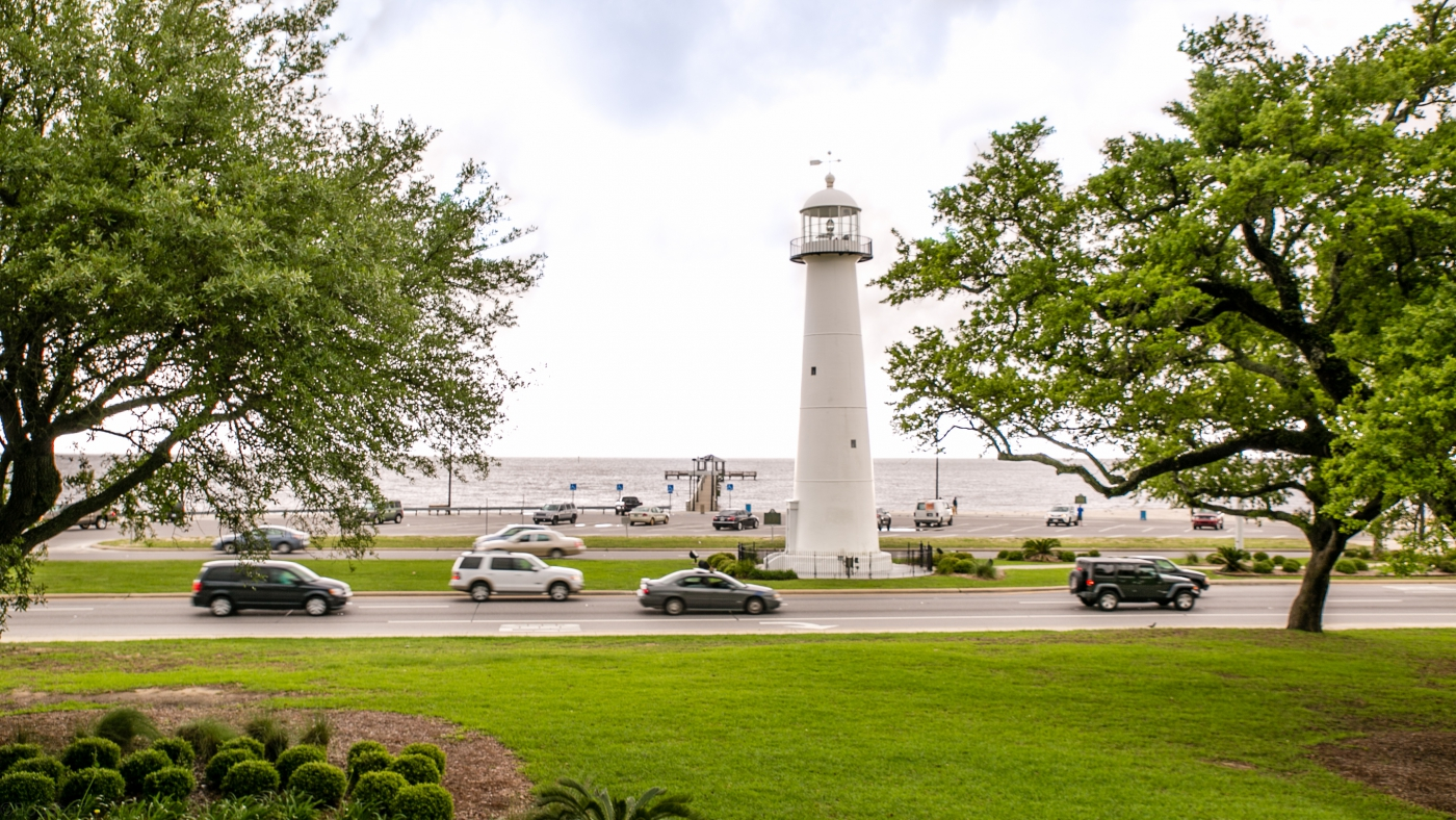 Make sure to get a good view of the Biloxi Lighthouse!