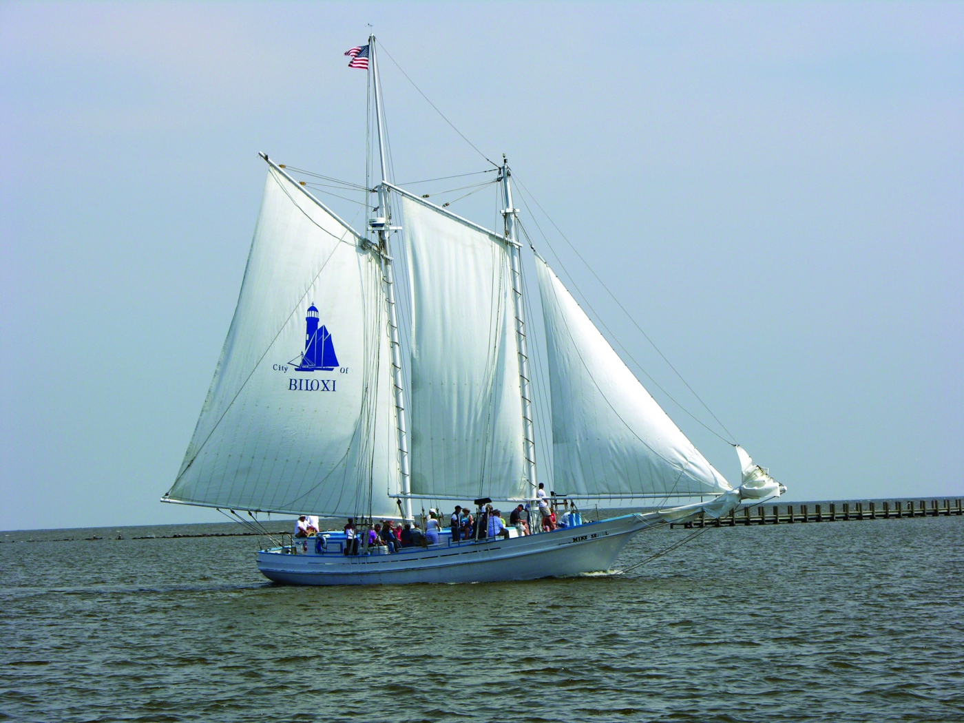 Biloxi Schooner isn't just a great place to eat, there are plenty that still appear off the coast.