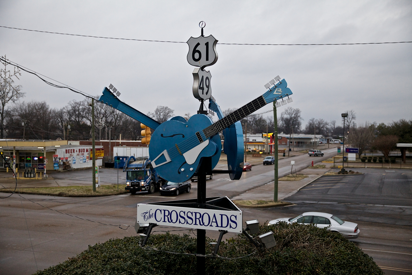 Where legends were made and Blues was born, the legendary Blues Crossroads at Hwy 61 and Hwy 49 in Clarksdale is a great photo op!