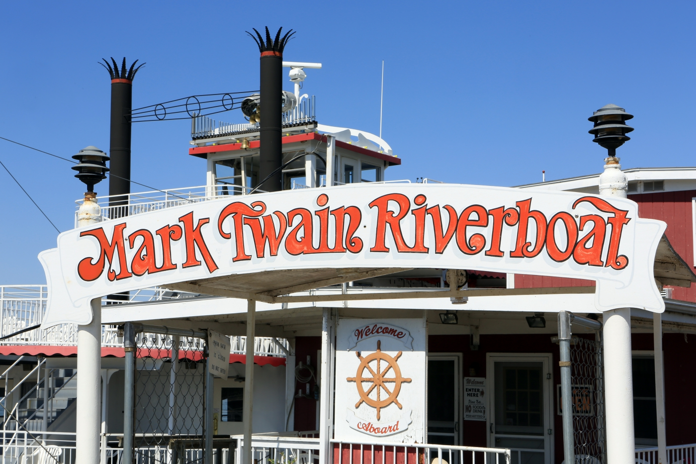 The famed Mark Twain Riverboat.