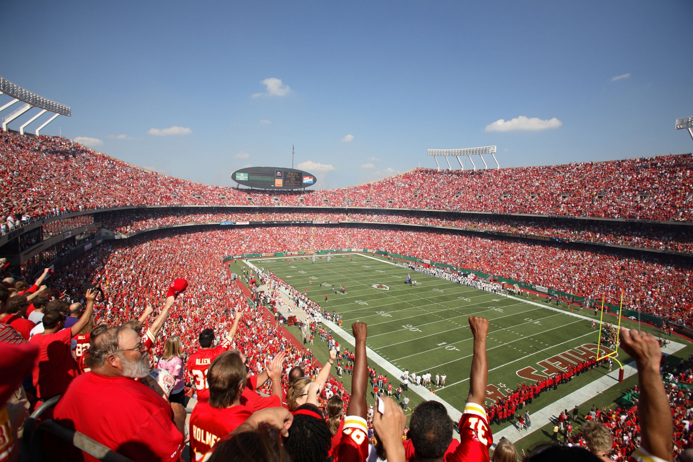 Get a taste for Show-Me State spirit at venues like Arrowhead Stadium, home of the NFL's Kansas City Chiefs.