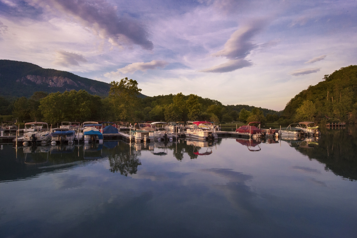 Lake Lure offers a scenic mountain retreat with 20 miles of shoreline. Visitors can boat, hike, bike, explore nearby Asheville and more.