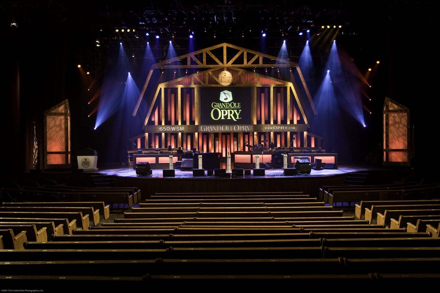 Interior of the world famous Grand Ole Opry.