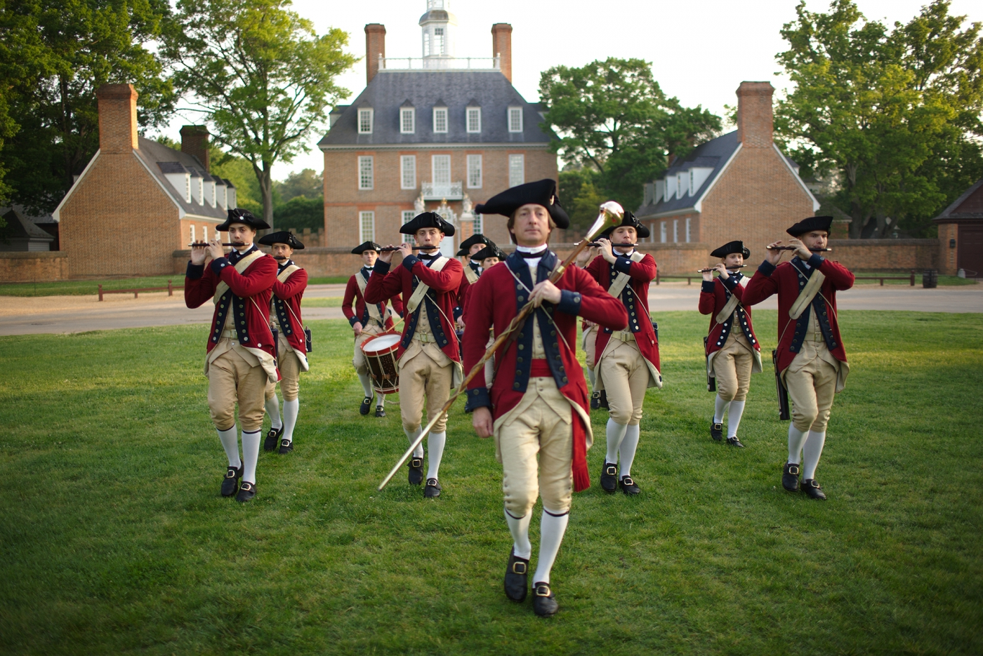 The Fife and Drums Corp of Colonial Williamsburg. ©CameronDavidson @CameronDavidson.com