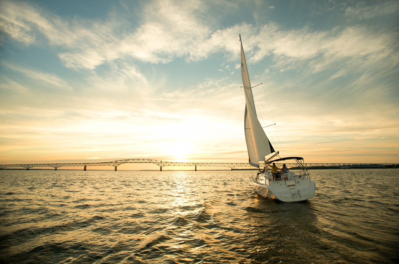 Sailing on the Chesapeake Bay. ©Mark Atkinson