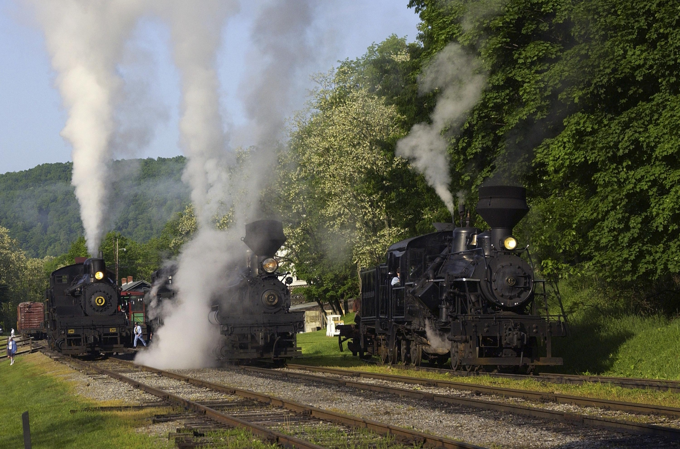 Ride the rails at Cass Scenic Railroad State Park!