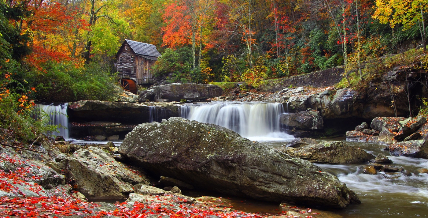 Hike in Mother Nature's playground and see the Glade Creek Grist Mill--scenic beauty nestled in the mountains.