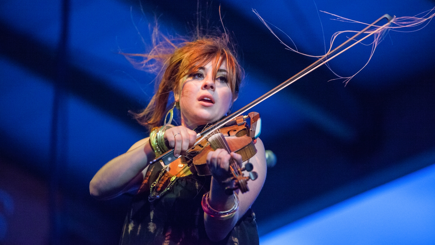 Cajun fiddle player Amanda Shaw performs at the 2013 Mudbug Madness Festival in downtown Shreveport.
