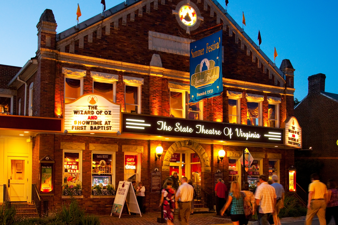 Barter Theatre, the State Theatre of Virginia, is a nationally recognized professional theatre. Photo:  ©John Henley Photography