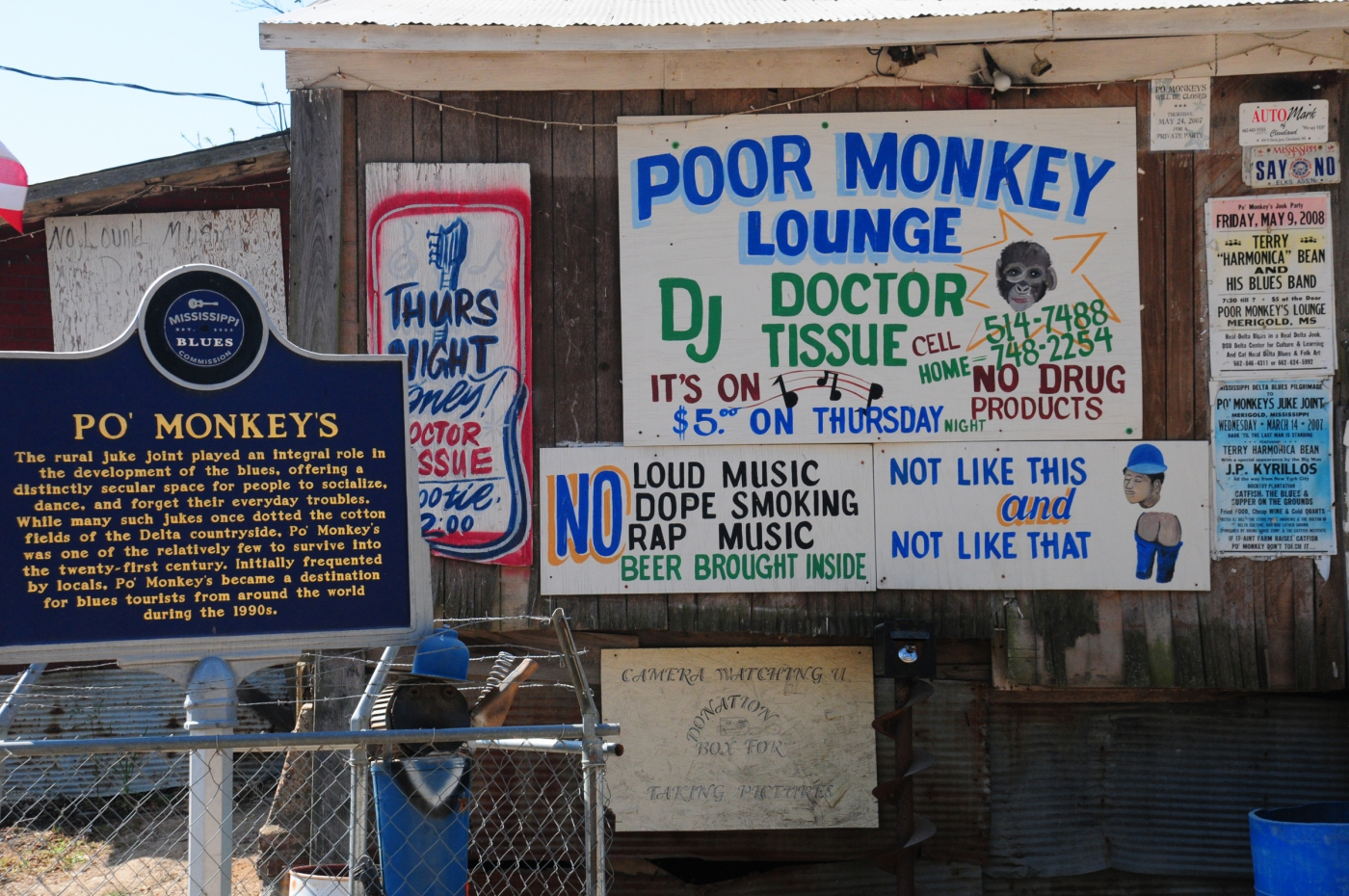 "Anthony Bourdain called Po' Monkey's the ""best bar in the world"" for it's blues, R&B, and early funk music."
