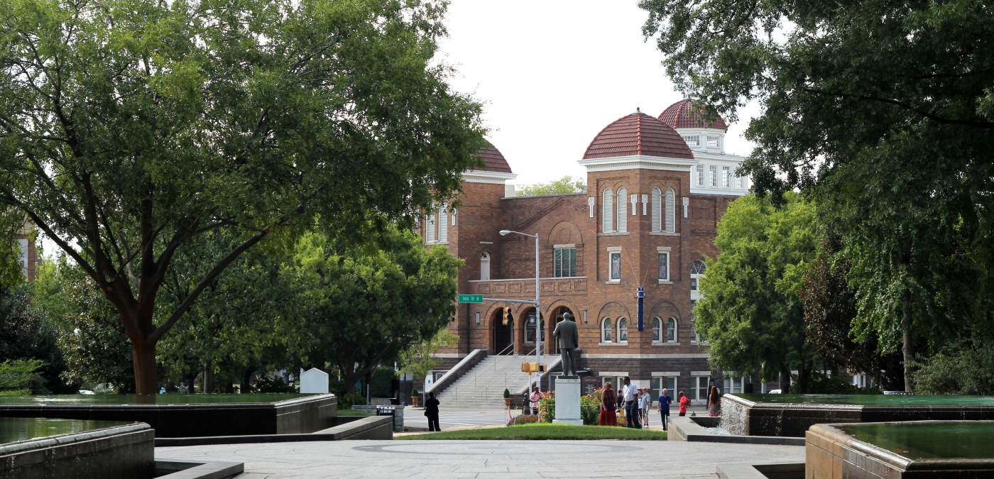 Walk through Kelly Ingram Park as you visit the historic 16th Street Baptist Church.