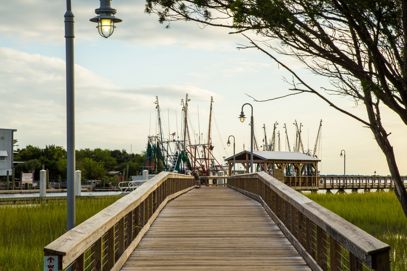 Stretch your legs on the Shem Creek Pier, located right off of Route 17.