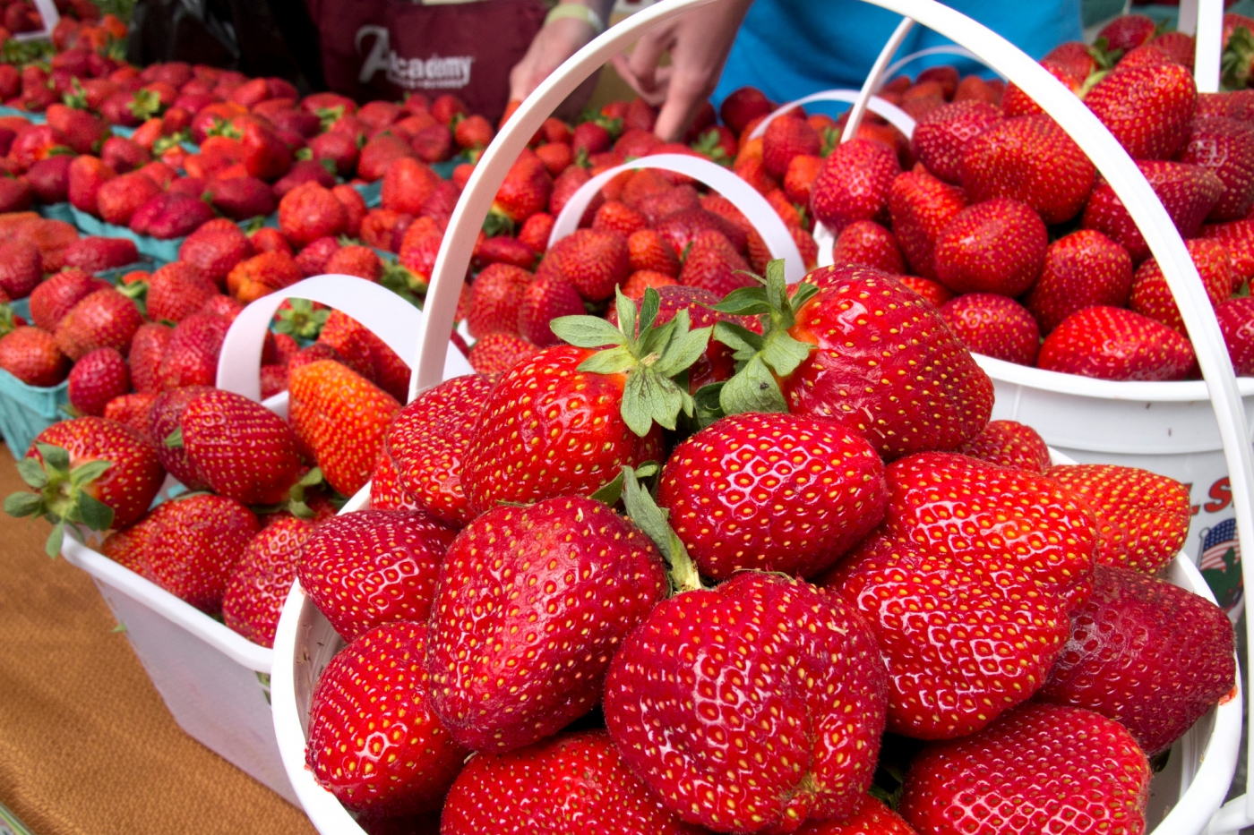 Sample some of Boone Hall Farm's delicious fresh produce at a local market!