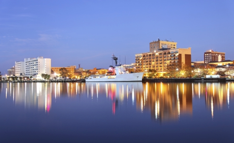 Wilmington's waterfront is part of the Cape Fear Historic Byway, showcasing beauty from yesterday and today.