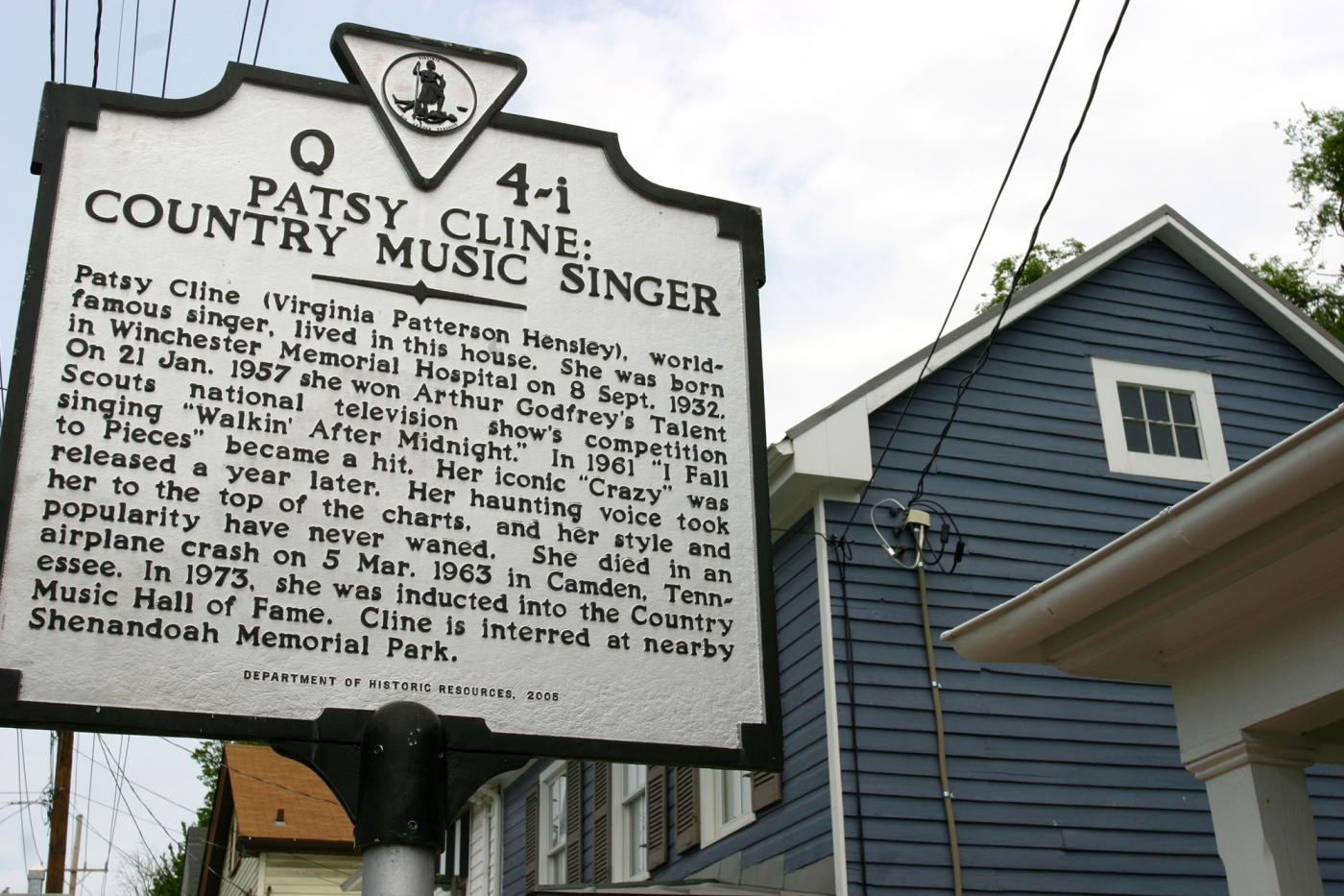 Birthplace of country singer Patsy Cline in Winchester, VA. Photo: ©Virginia Tourism Corporation