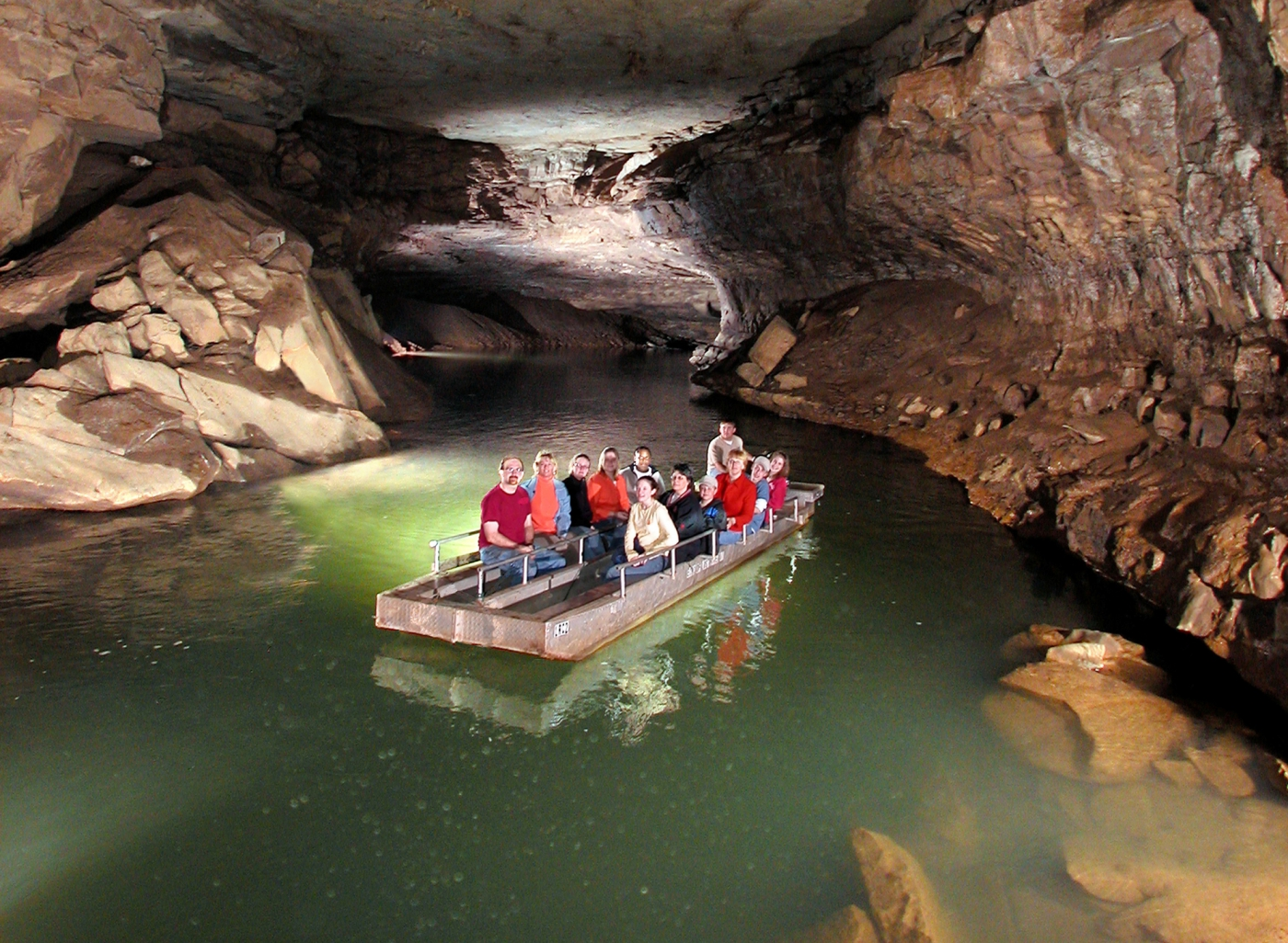 Kentucky's only underground boat ride at Lost River Cave - Bowling Green, Kentucky