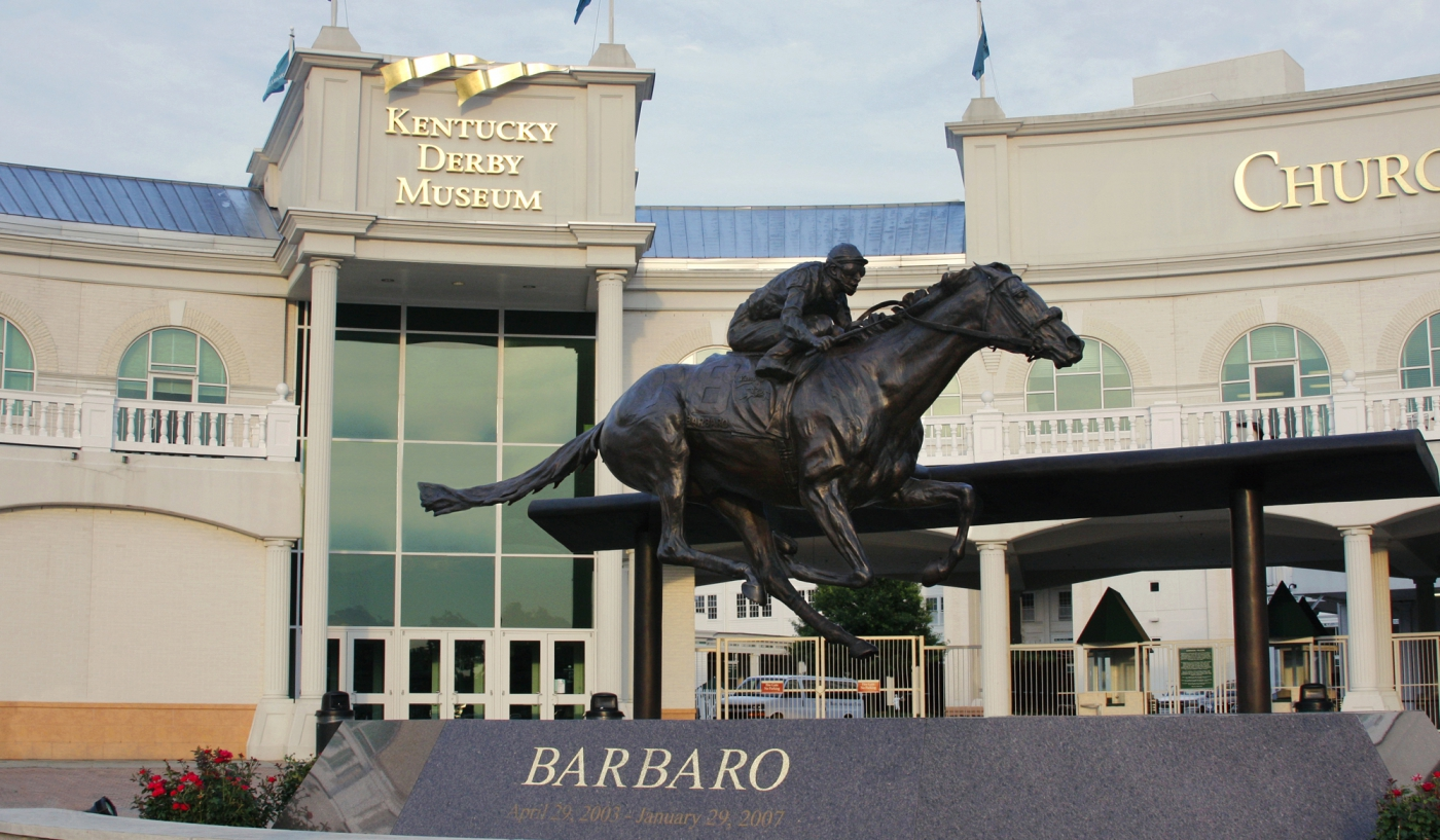 Remembering a fallen champion at the Kentucky Derby Museum.