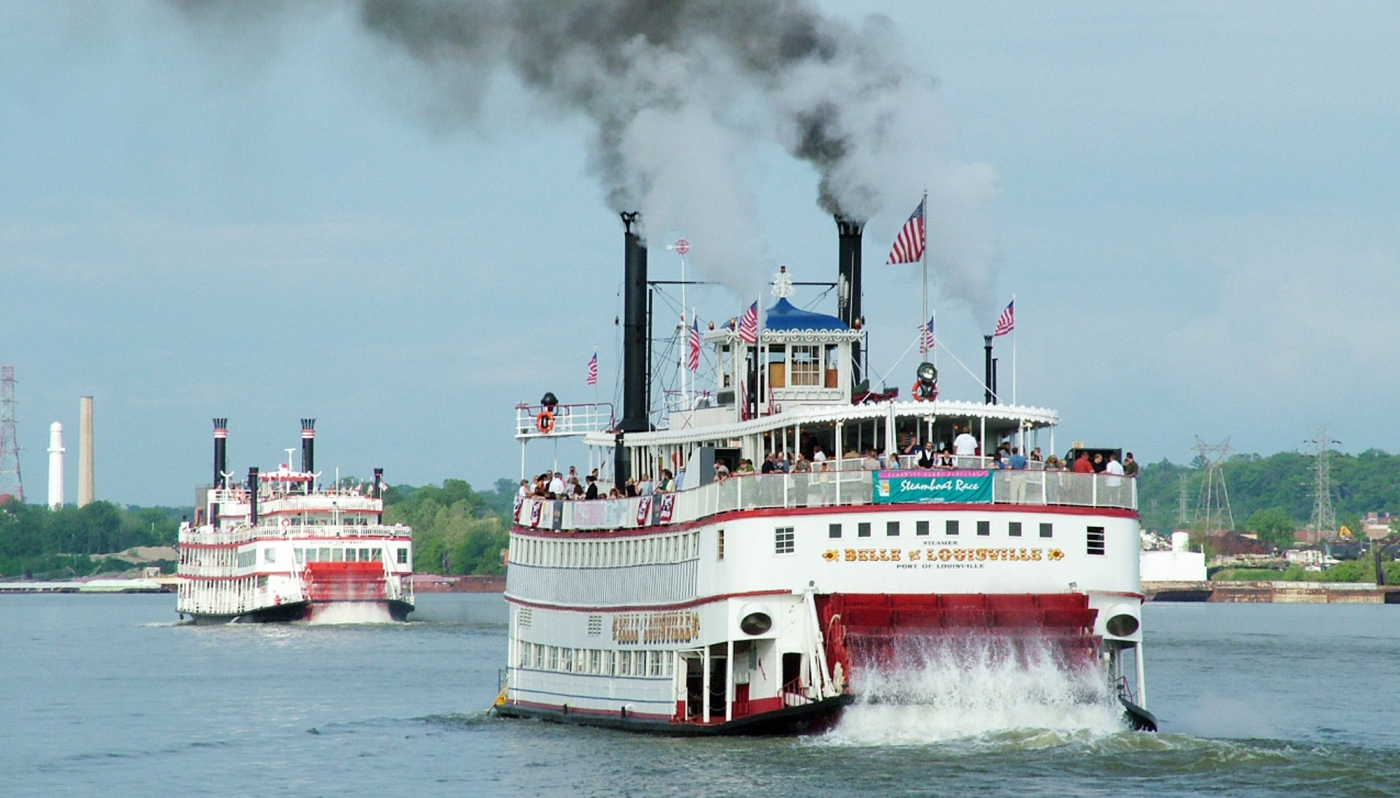 The Great Steamboat Race, one of the events of the Kentucky Derby Festival.