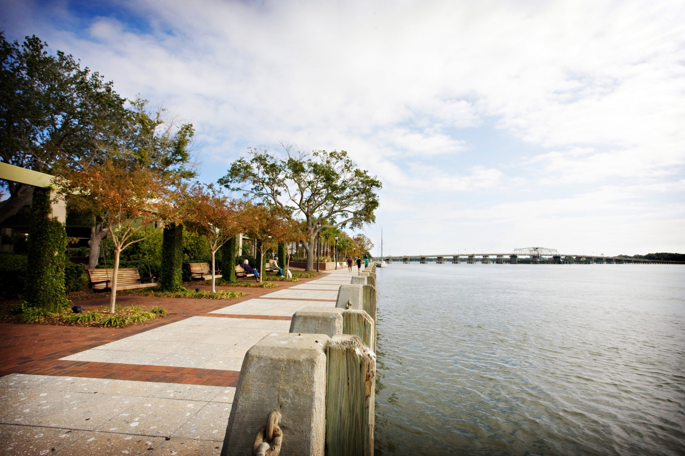 Take in all the South Carolina beauty from the charming benches of Beaufort Park.