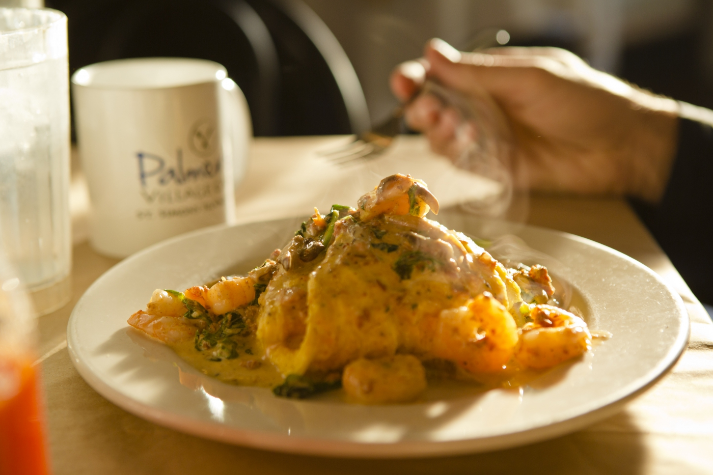 Enjoy your favorite southern dishes at Palmers Village Café on St. Simons Island.