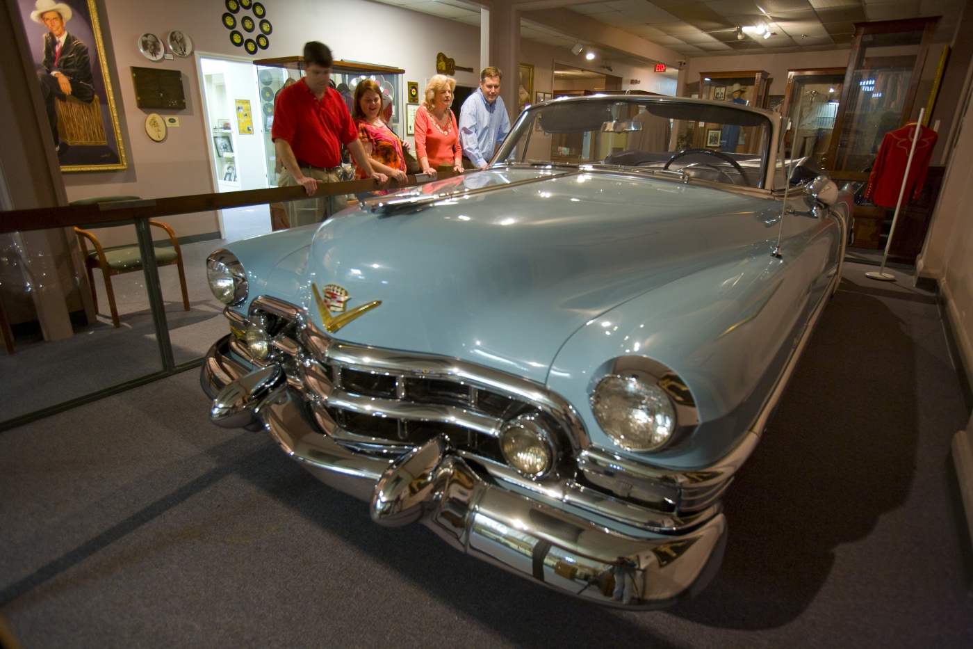 Legendary musician Hank Williams began his music career in Montgomery. His blue Cadillac is one of many artifacts you can see at the Hank Williams Museum.