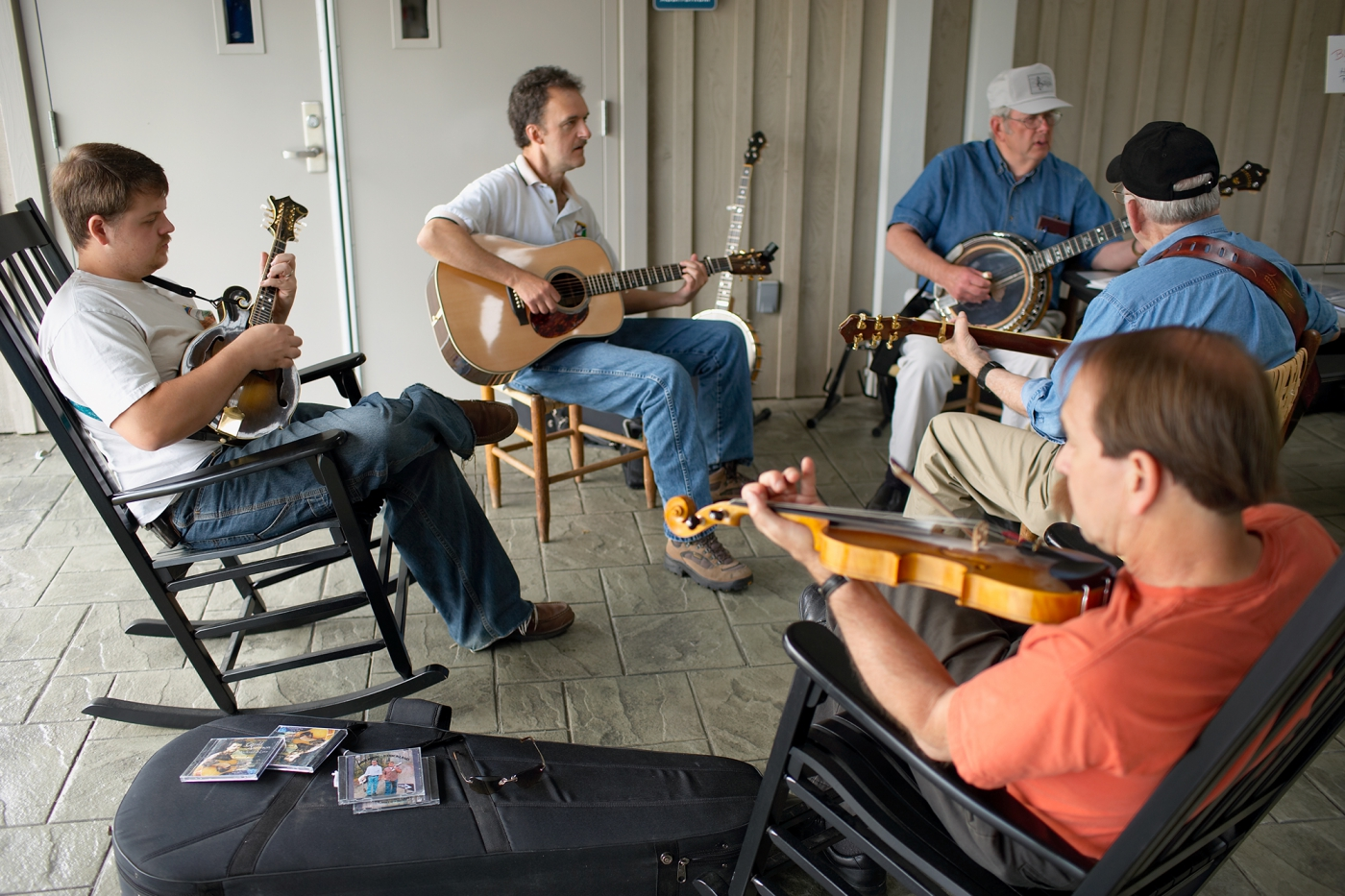 Jam Session at the  Blue Ridge Music Center. Photo: ©Cameron Davidson