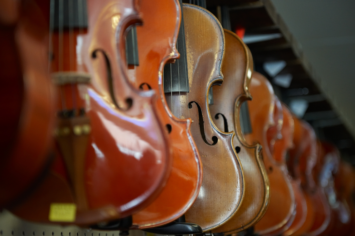 Barr's Fiddle Shop in downtown Galax. Photo: ©Cameron Davidson