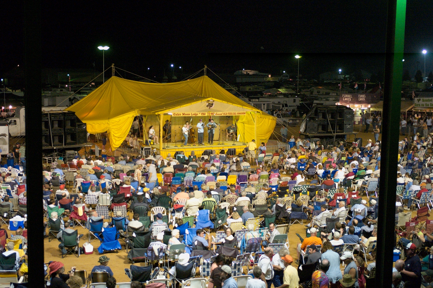 The main stage at the Galax Old Fiddlers' Convention. Photo: ©Virginia Tourism Corporation