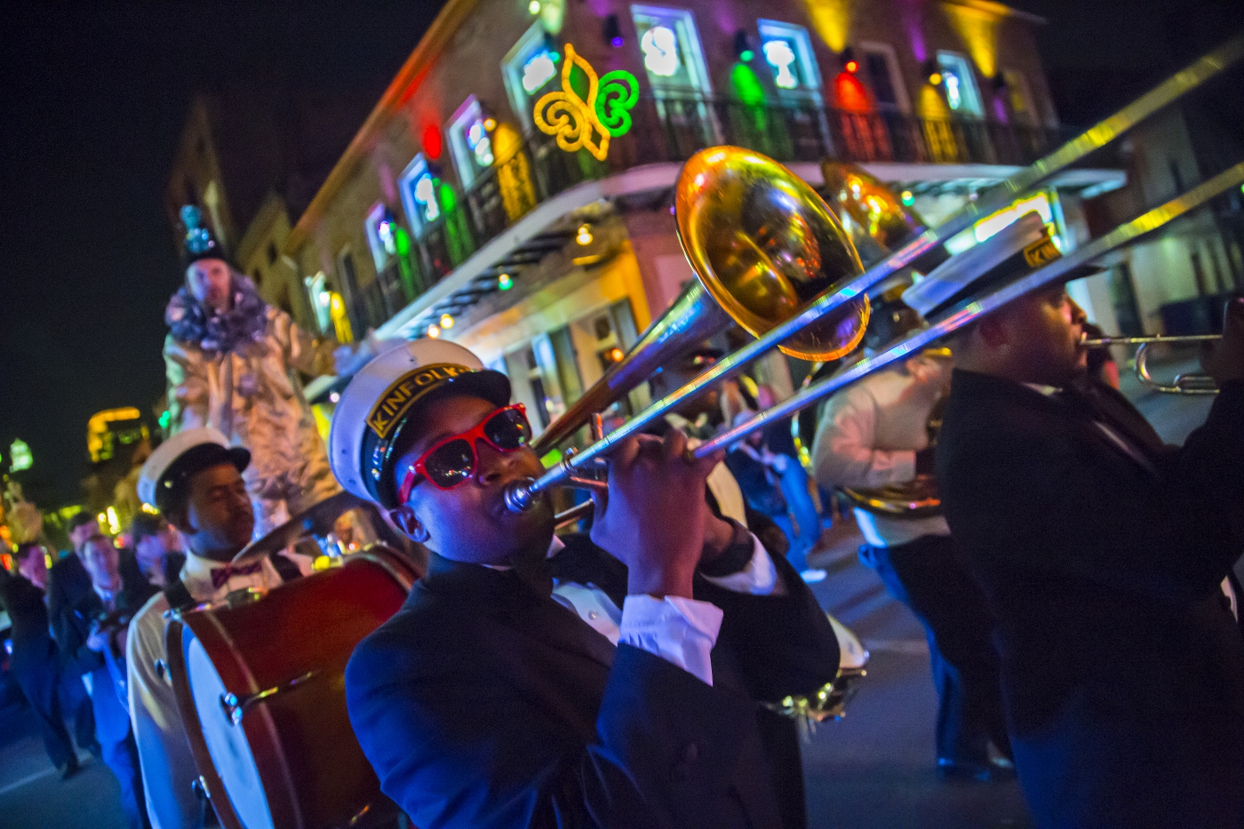Brass band in downtown New Orleans.