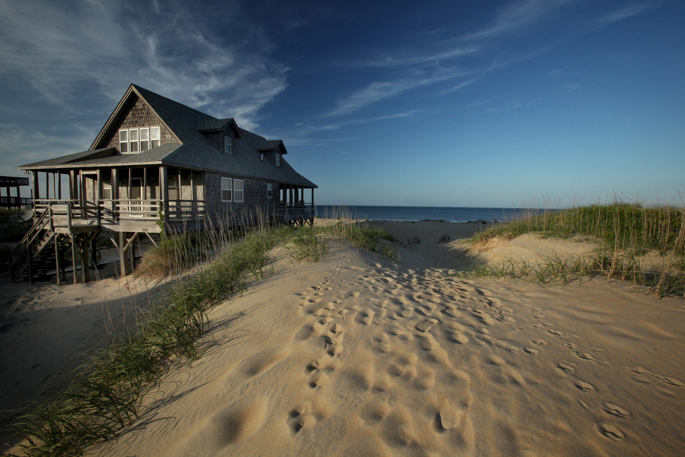 The Outer Banks and all North Carolina beaches have beautiful homes for short- and long-term rentals.