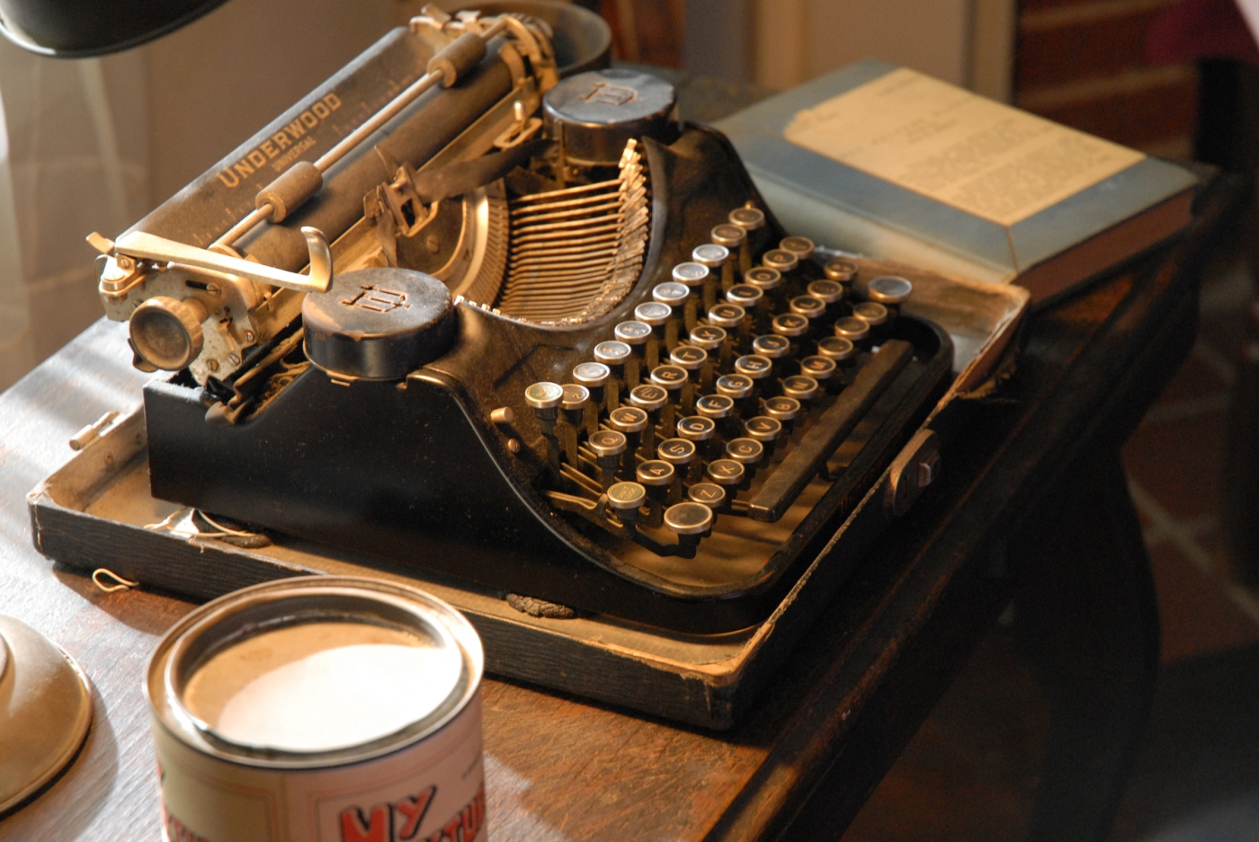 Pulitzer Prize winning author William Faulkner spent many hours in front of this typewriter while enjoying his beloved Oxford.
